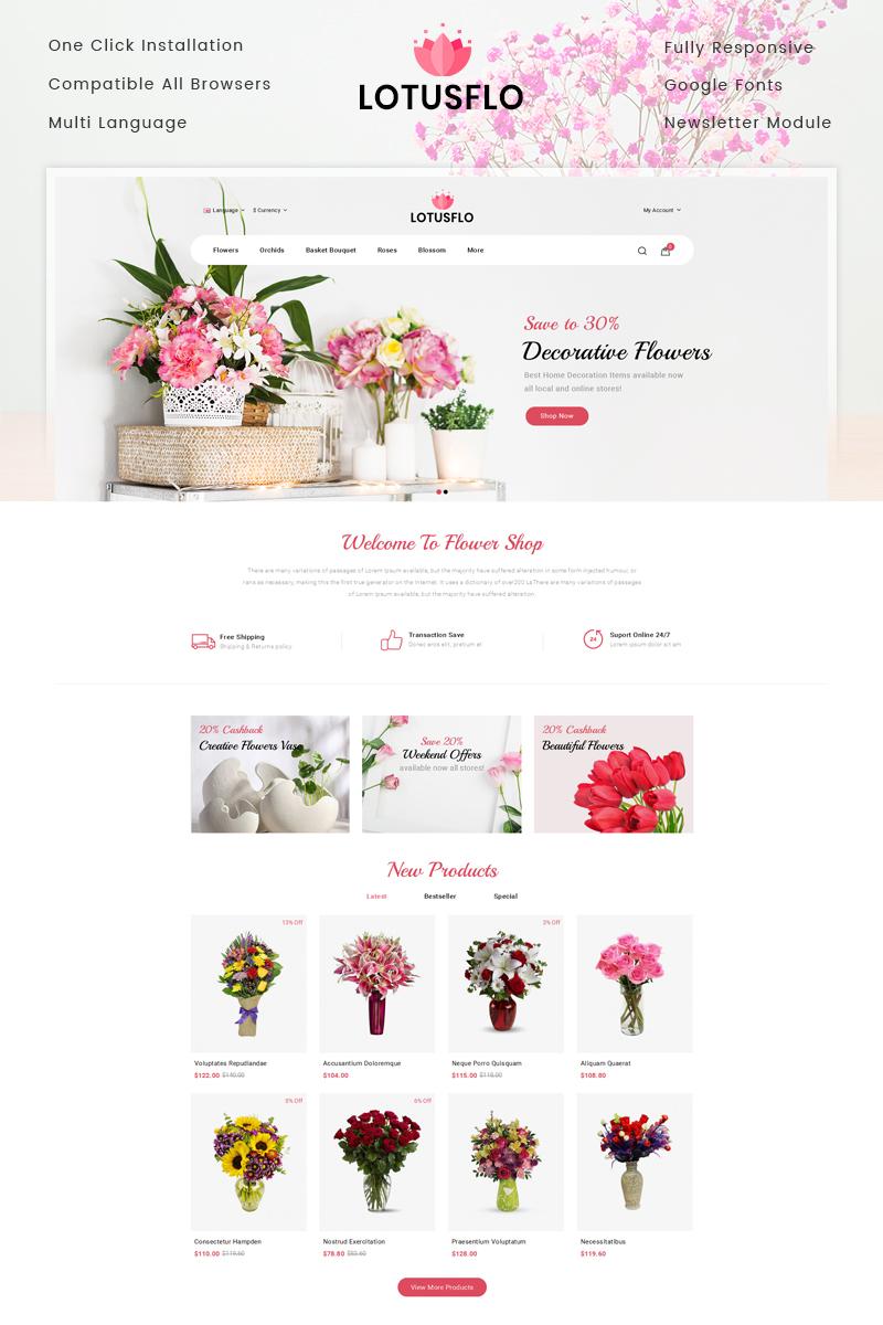 "Template OpenCart Responsive #77881 ""Lotusflo - Flowers Store"""