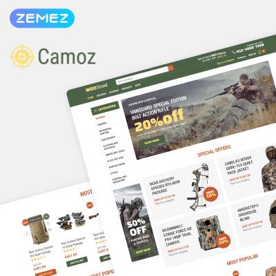Responsives WooCommerce Theme für Jagd