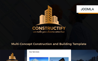 Constructify- Construction and Building Joomla Template
