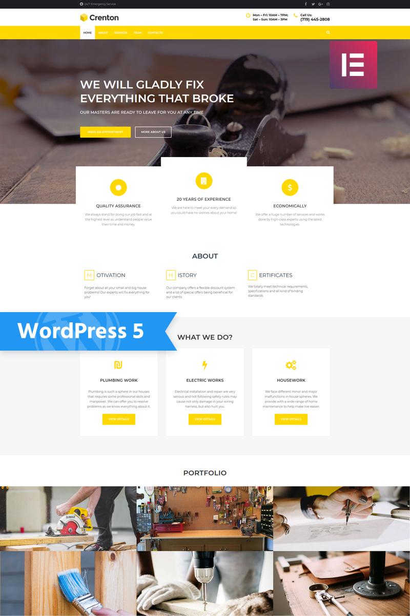 Crenton - Construction Multipurpose Modern Elementor WordPress Theme