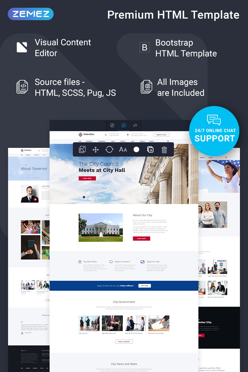 FederalGov - Government Ready-to-Use Classic HTML Template Web №77937