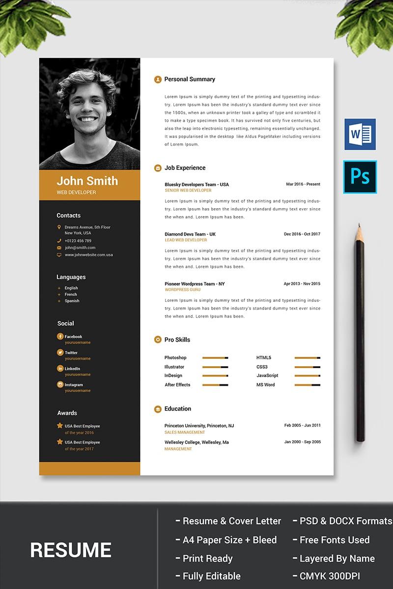 john smith resume template  77957