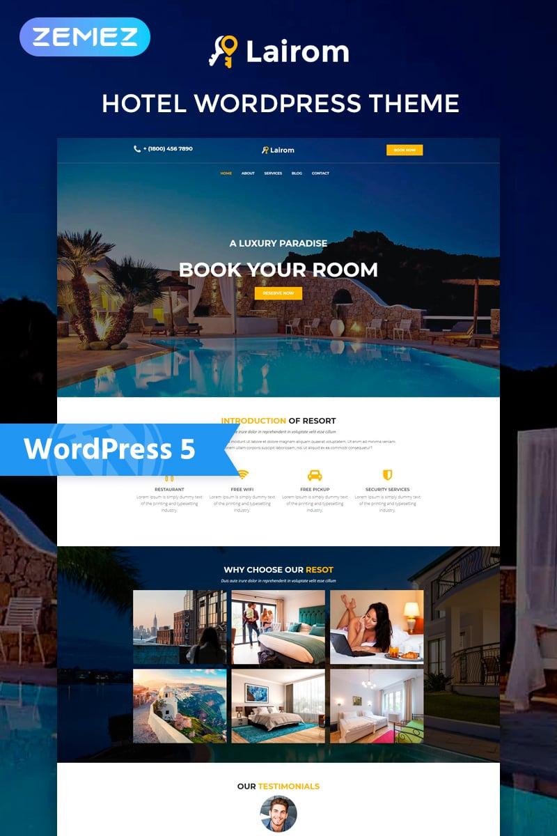 Lairom - Hotel Multipurpose Modern Elementor Tema WordPress №77972