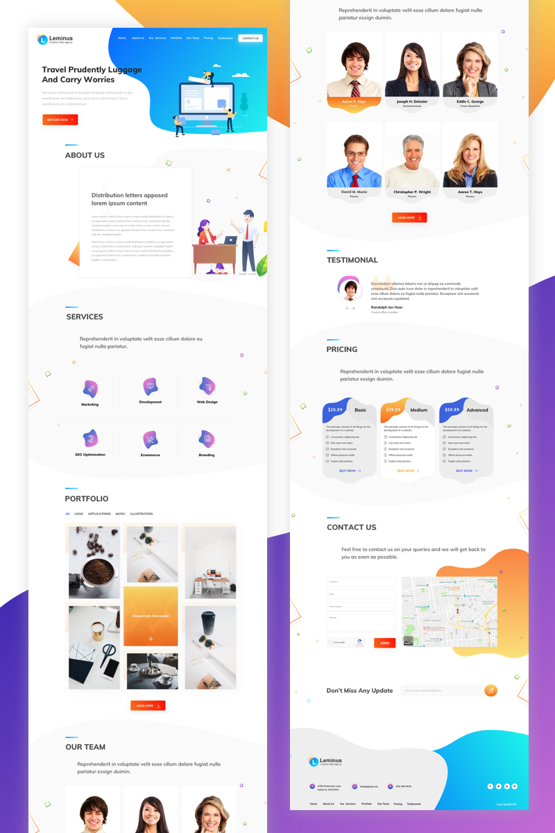 Leminus Web Agency Sketch Template - screenshot