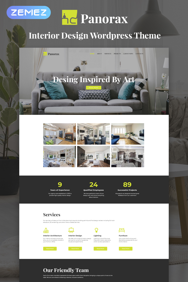 Panorax - Interior Design Multipurpose Modern Elementor WordPress Theme