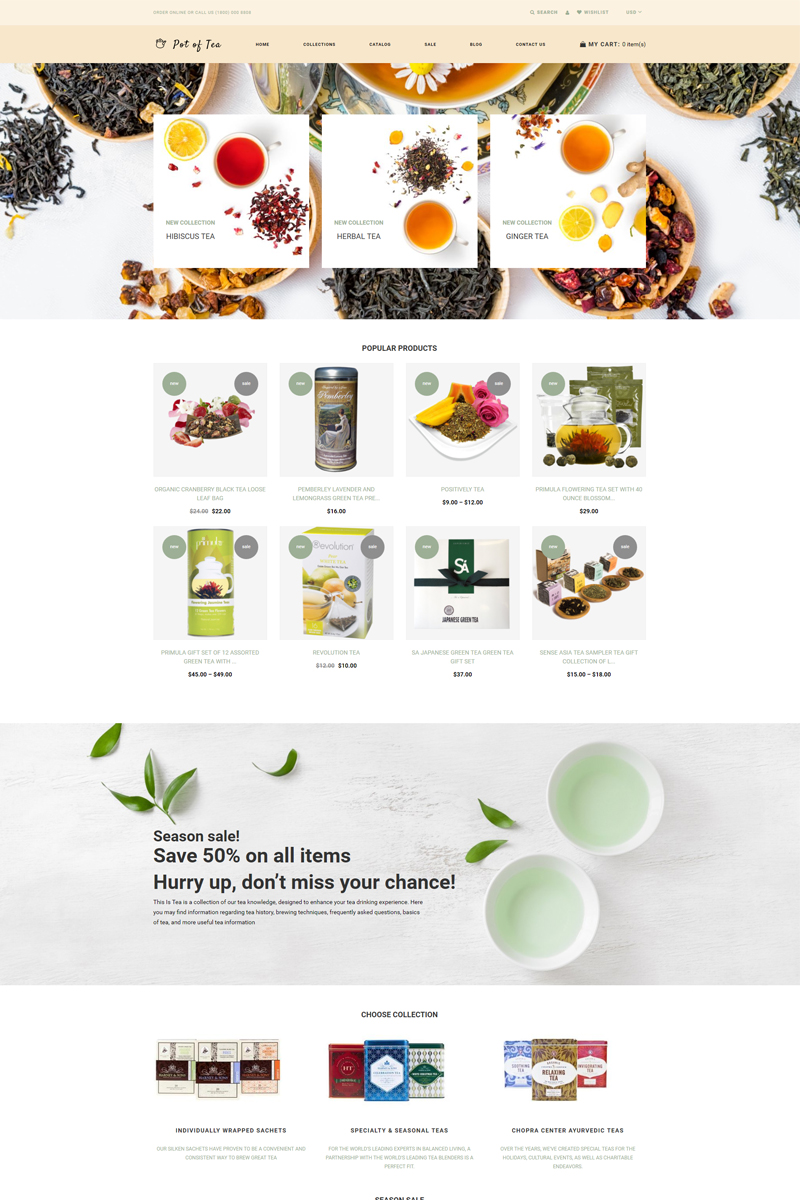 Pot of Tea - Tea Shop Multipage Clean Shopify Theme