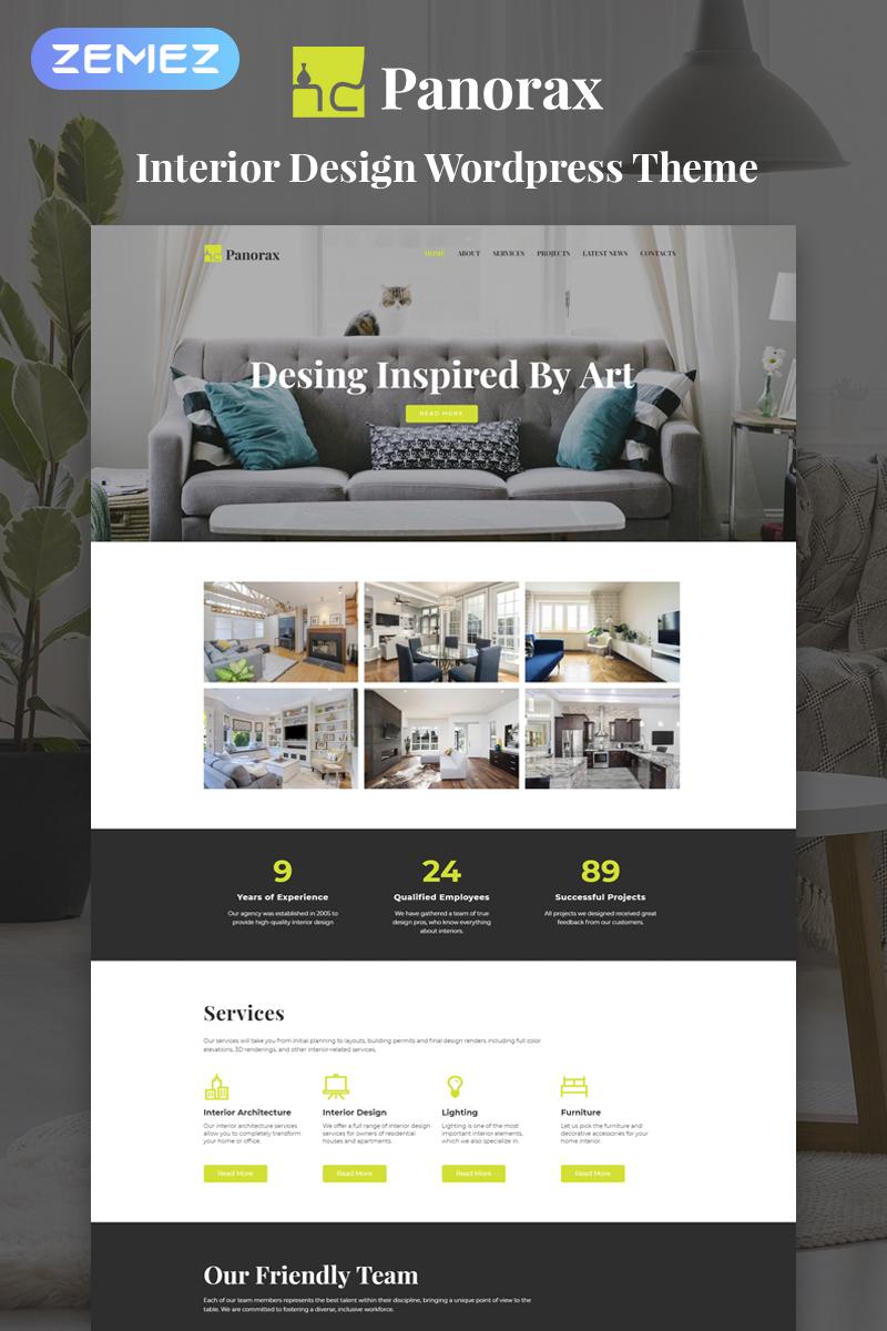 "Responzivní WordPress motiv ""Panorax - Interior Design Multipurpose Modern Elementor"" #77914"