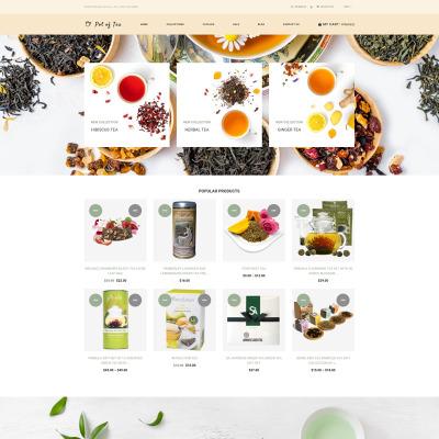 Responsives Shopify Theme für Teeladen