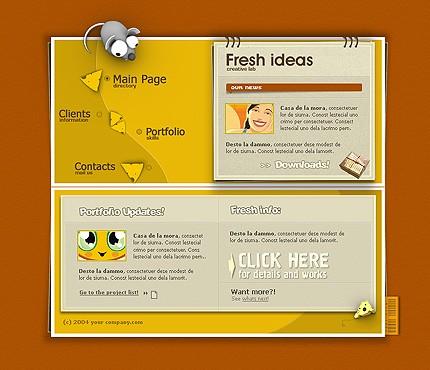 Шаблон сайта на Flash (7804)