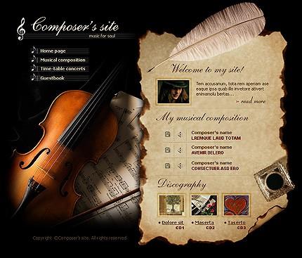 Creare site muzica