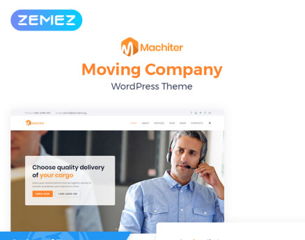 Machiter - Logistics Multipurpose Classic Elementor WordPress Theme