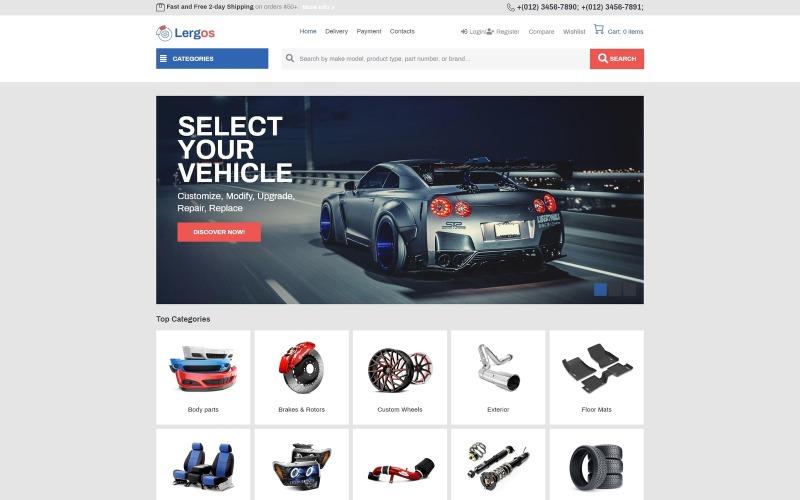 Lergos - Car Spare Parts ECommerce Classic Elementor WooCommerce Theme