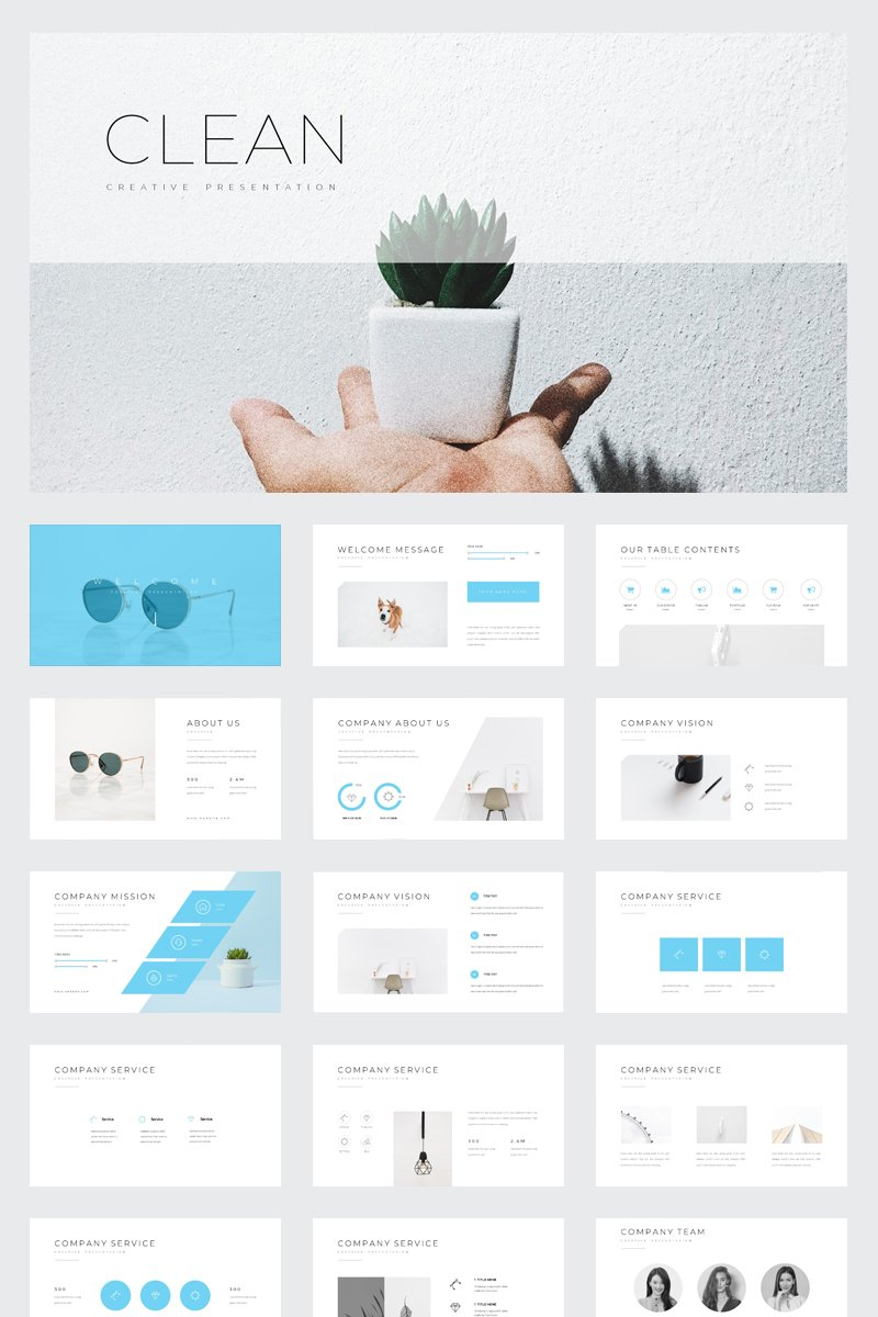 Clean Powerpoint Template  78090