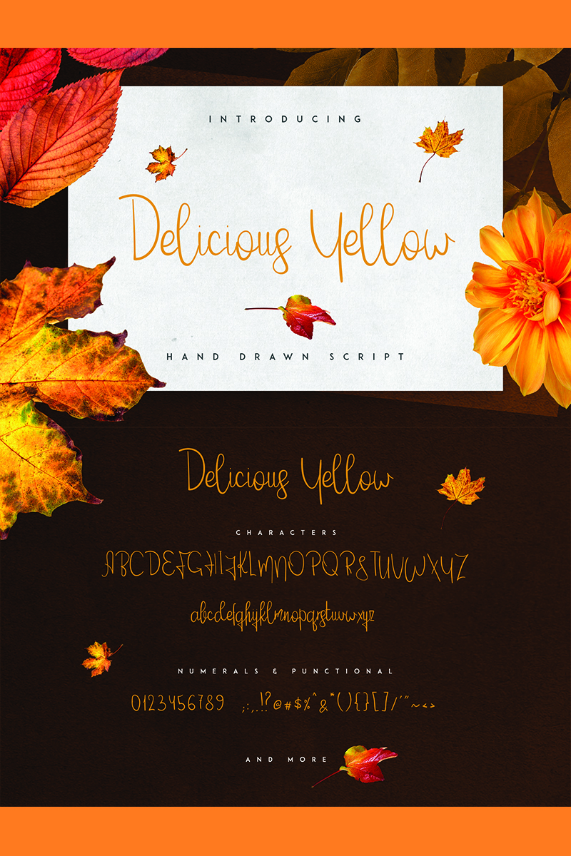 Delicious Yellow Font - screenshot