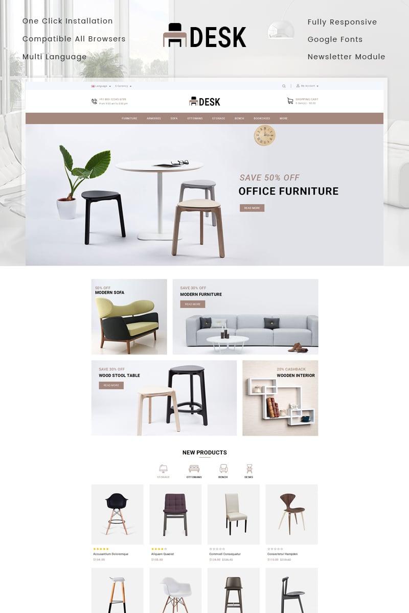 Desk Furniture Store OpenCart Template - screenshot