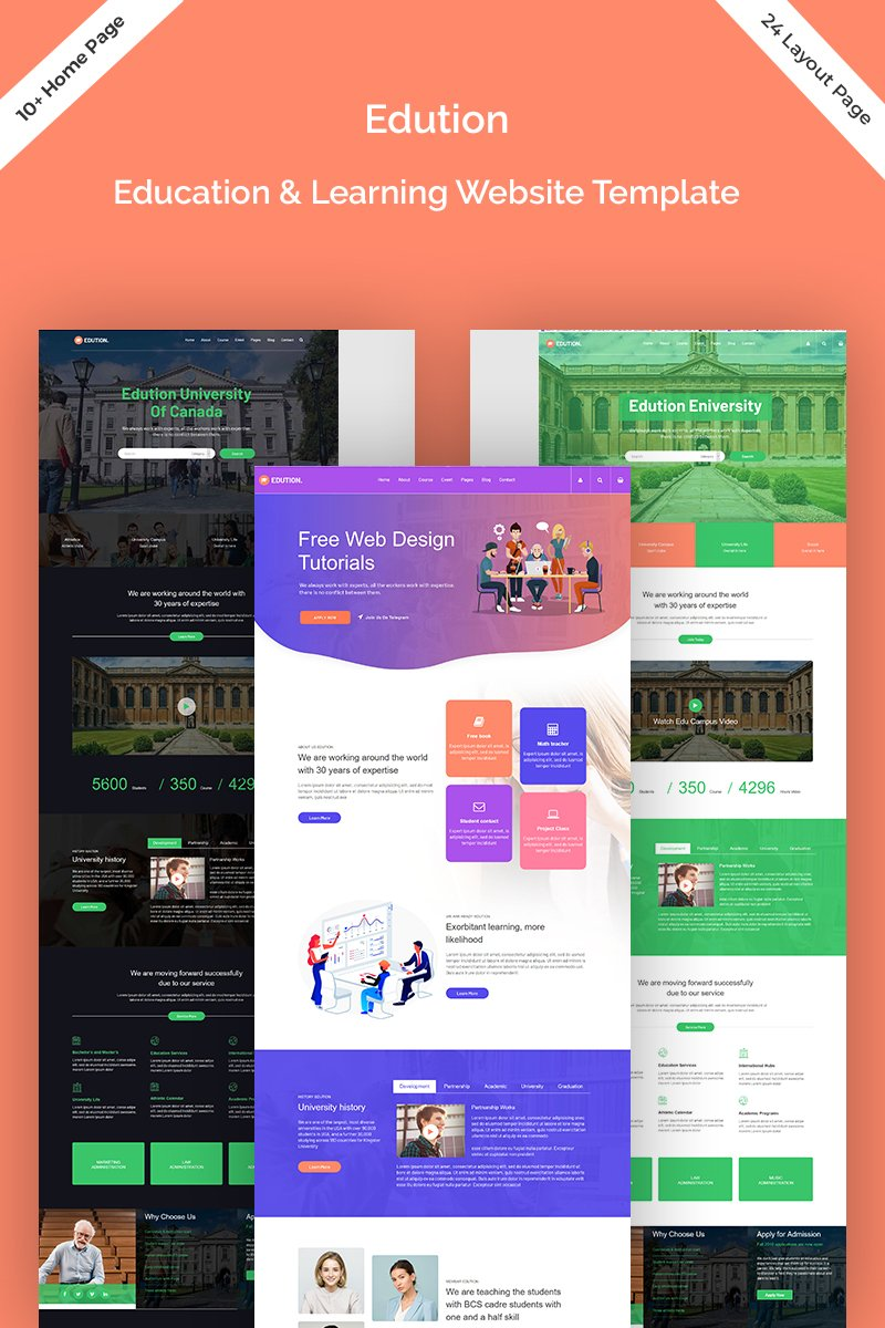 Edution - Education & Learning Website Template Website Template