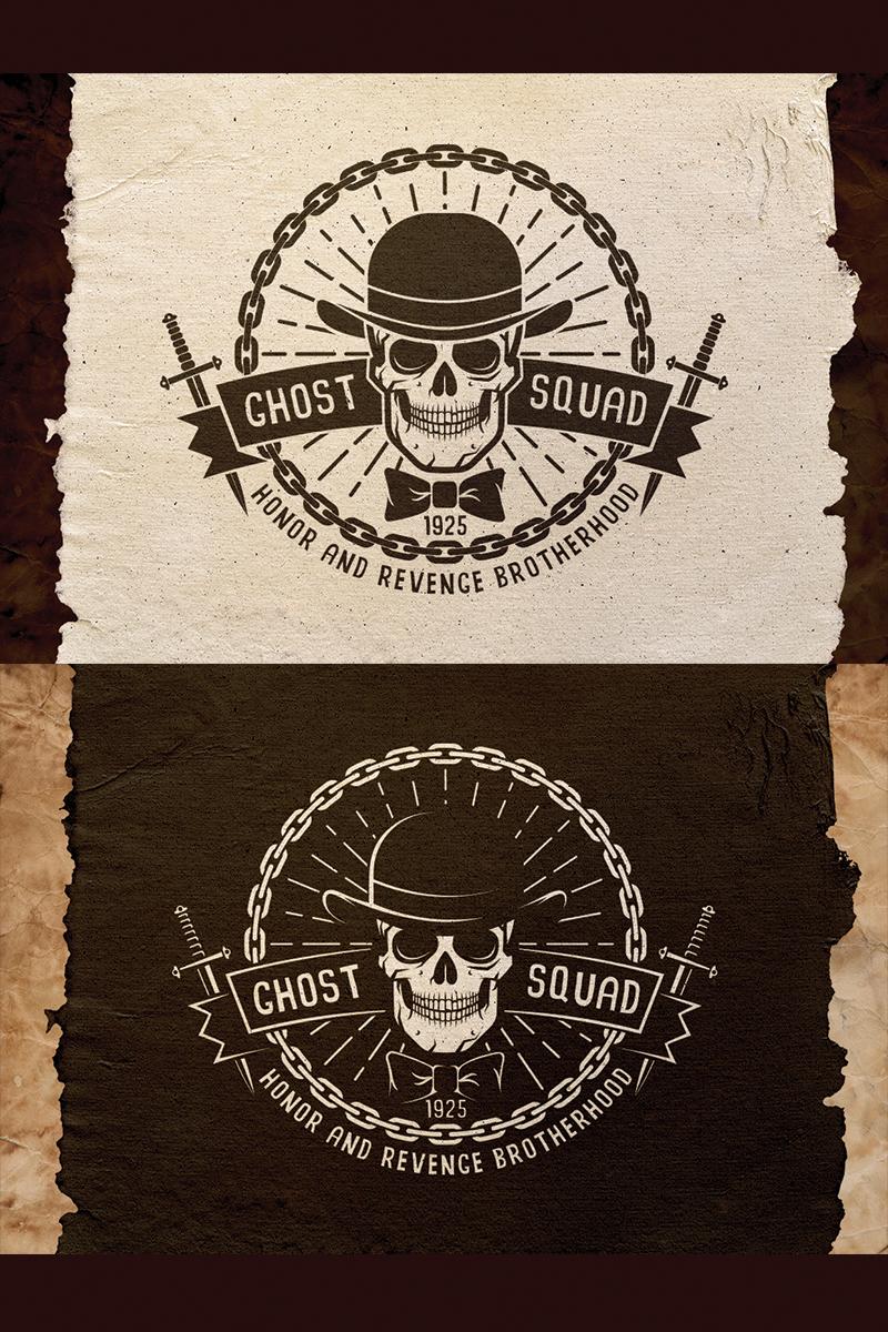 Ghost Squad Skull Emblem Illustration