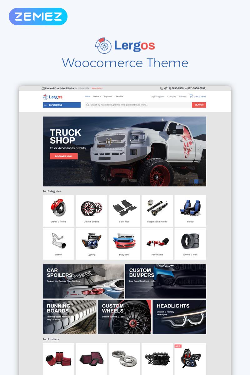 "Tema WooCommerce ""Lergos - Car Spare Parts ECommerce Classic Elementor"" #78091"