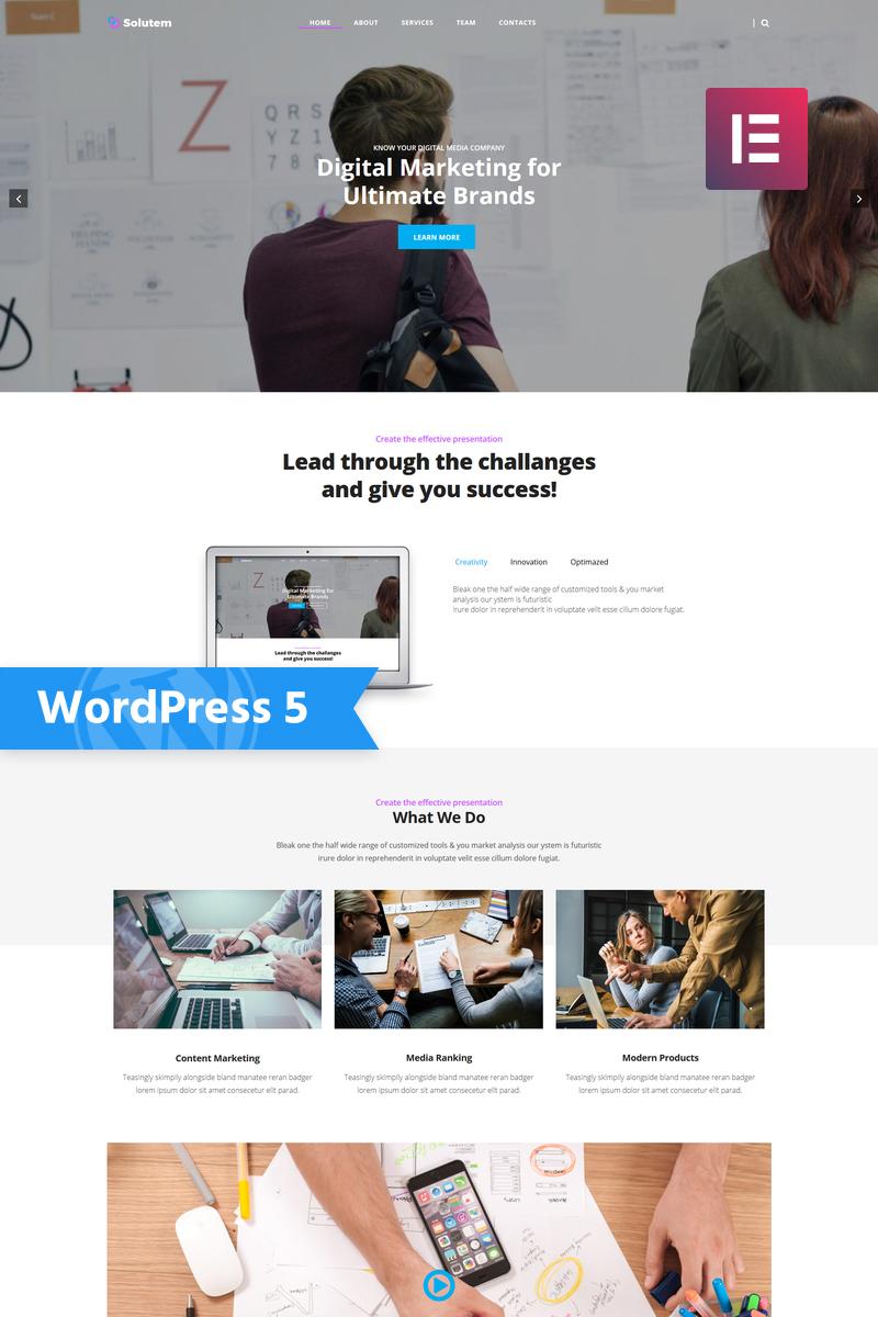 "Template WordPress Responsive #78052 ""Solutem - Creative Agency Multipurpose Modern Elementor"""