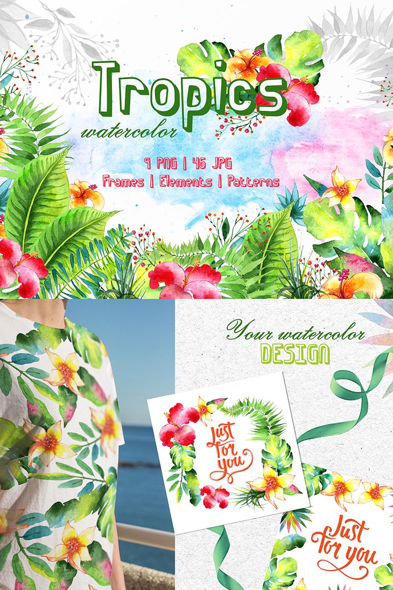 Tropics Watercolor  Png Illustration