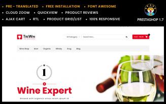 Trewin Wine Store PrestaShop Theme