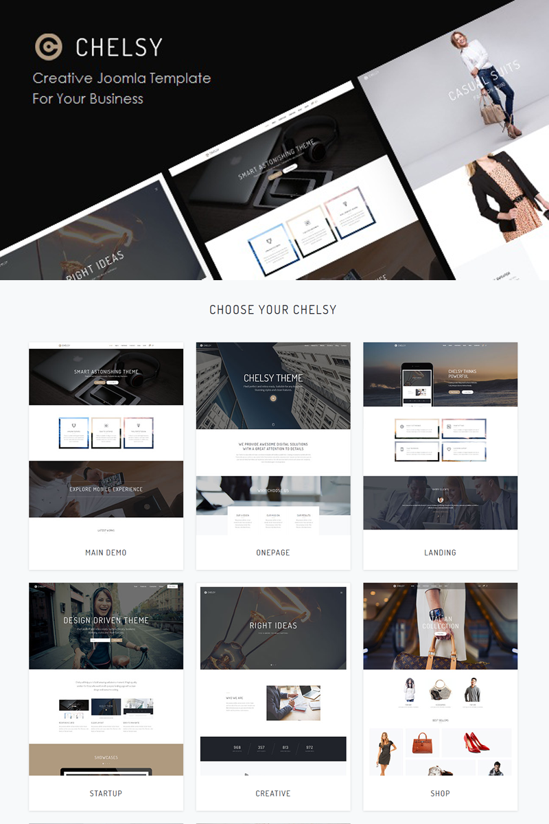 Chelsy | Creative Drag and Drop Joomla Template