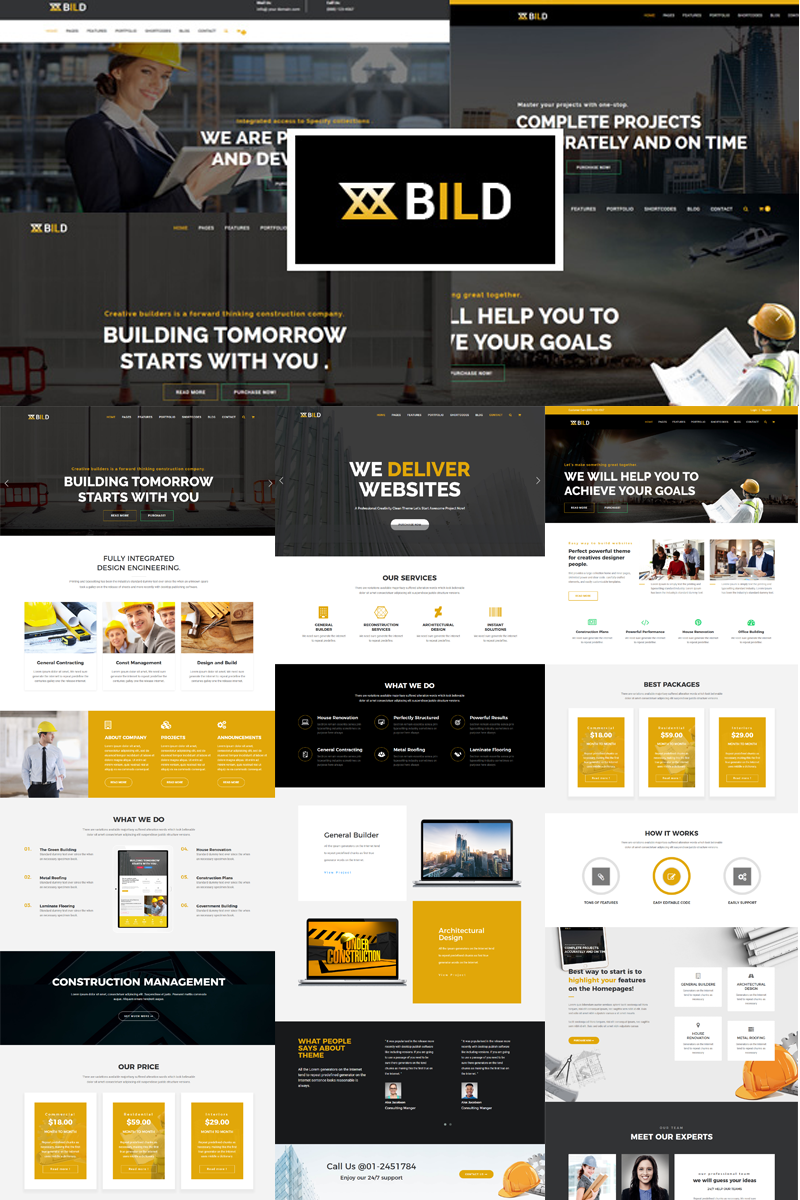 Bild | Building, Construction Joomla Template