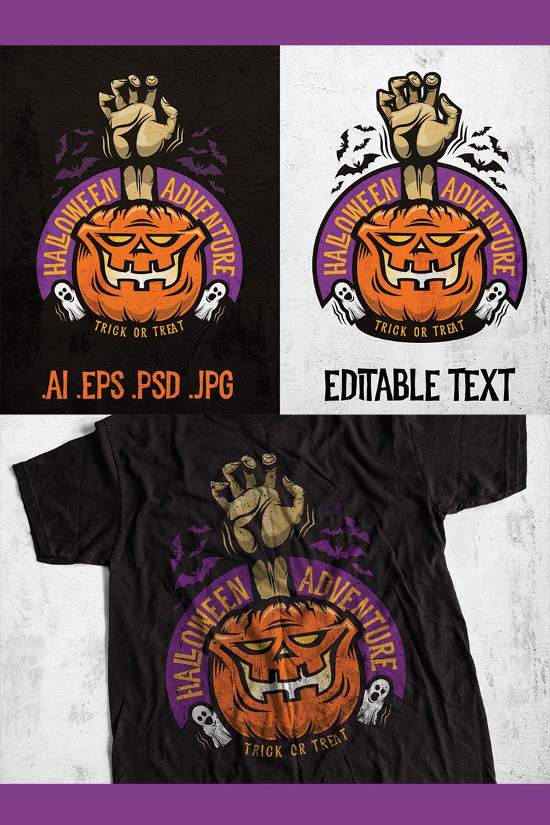 Halloween Adventure Emblem Illustration