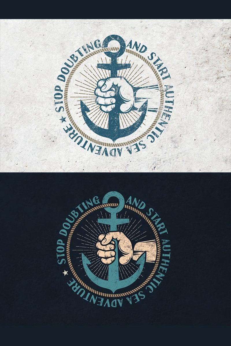 "Ilustración ""Anchor in Hand Retro"" #78106 - captura de pantalla"