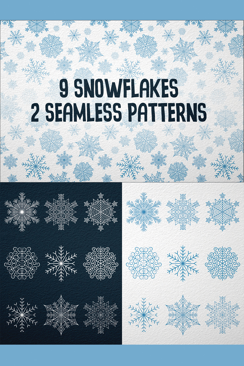 9 Snowflakes Illustration #78107