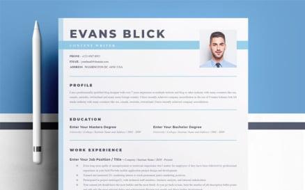 Evans Blick Resume Template