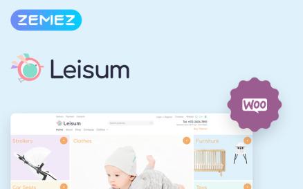 Leisum - Kids Store ECommerce Minimal Elementor WooCommerce Theme