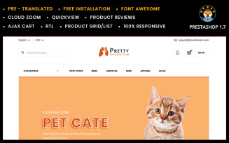 Pretty - Pet store Template PrestaShop Theme