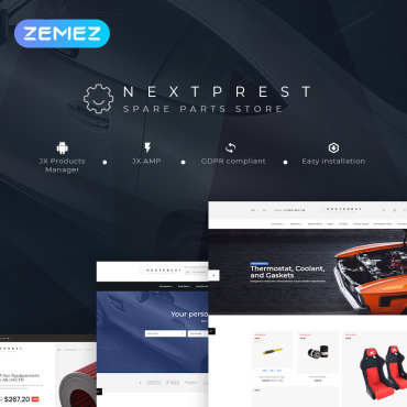 Купить  пофессиональные PrestaShop шаблоны. Купить шаблон #78296 и создать сайт.