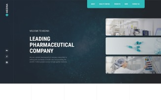 Medina - Pharmaceutical Company Modern HTML Landing Page Template