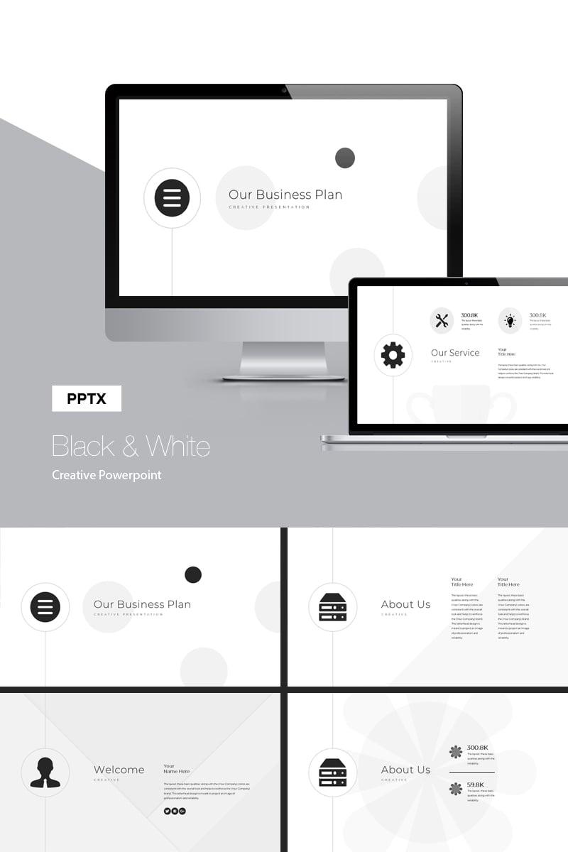 Black & White Presentation PowerPoint Template - screenshot