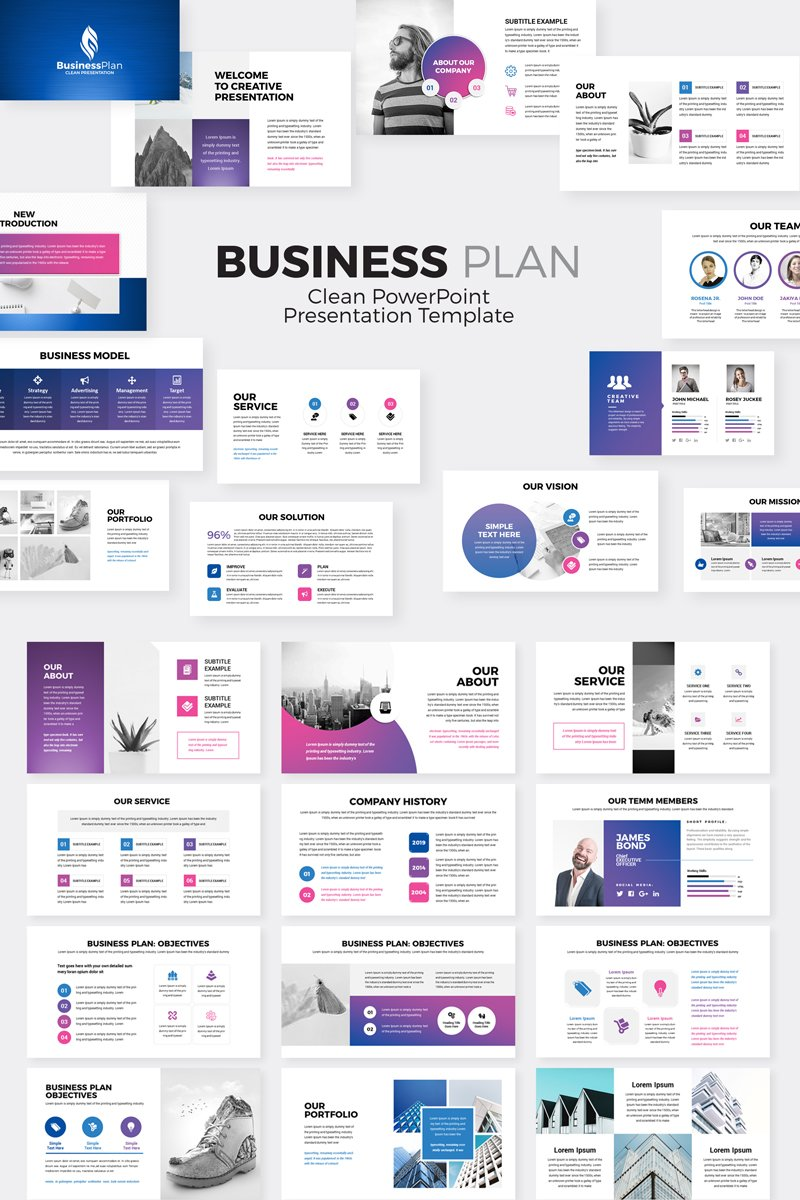 business plan presentation powerpoint template  78201
