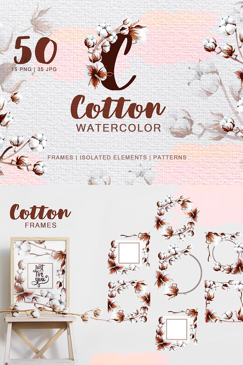Cotton Watercolor Png Illustration