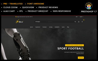Deaf Stationary and Sports Store PrestaShop Theme