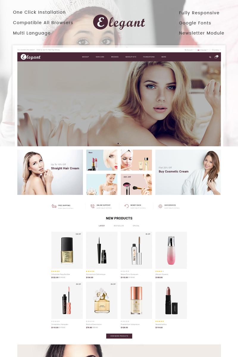 Elegant Cosmetic Store Template OpenCart №78214