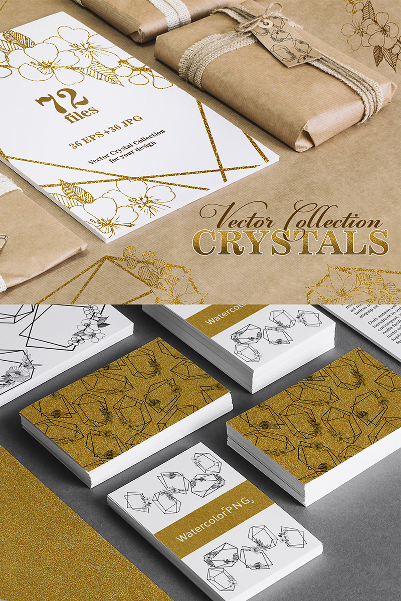 Elegant Crystals Vector Illustration