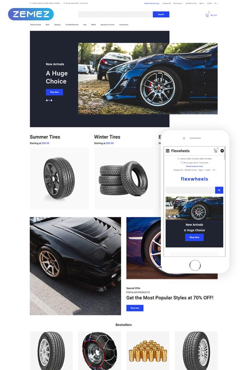 FlexWheels - Wheels & Tires Clean OpenCart Template