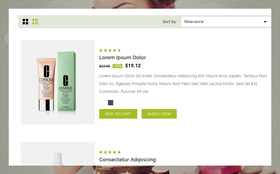 """""""Gloriea Spa & Beauty"""" - адаптивний PrestaShop шаблон №78284 - скріншот"""