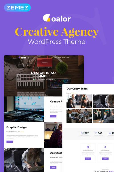 Goalor - Creative Agency Multipurpose Modern Elementor