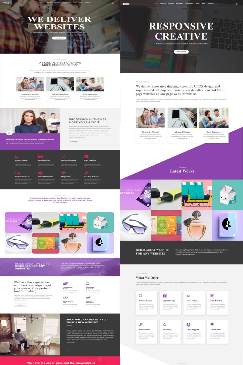 Intra - Multi-Page + One Page Multi-Purpose    Business Joomla Template