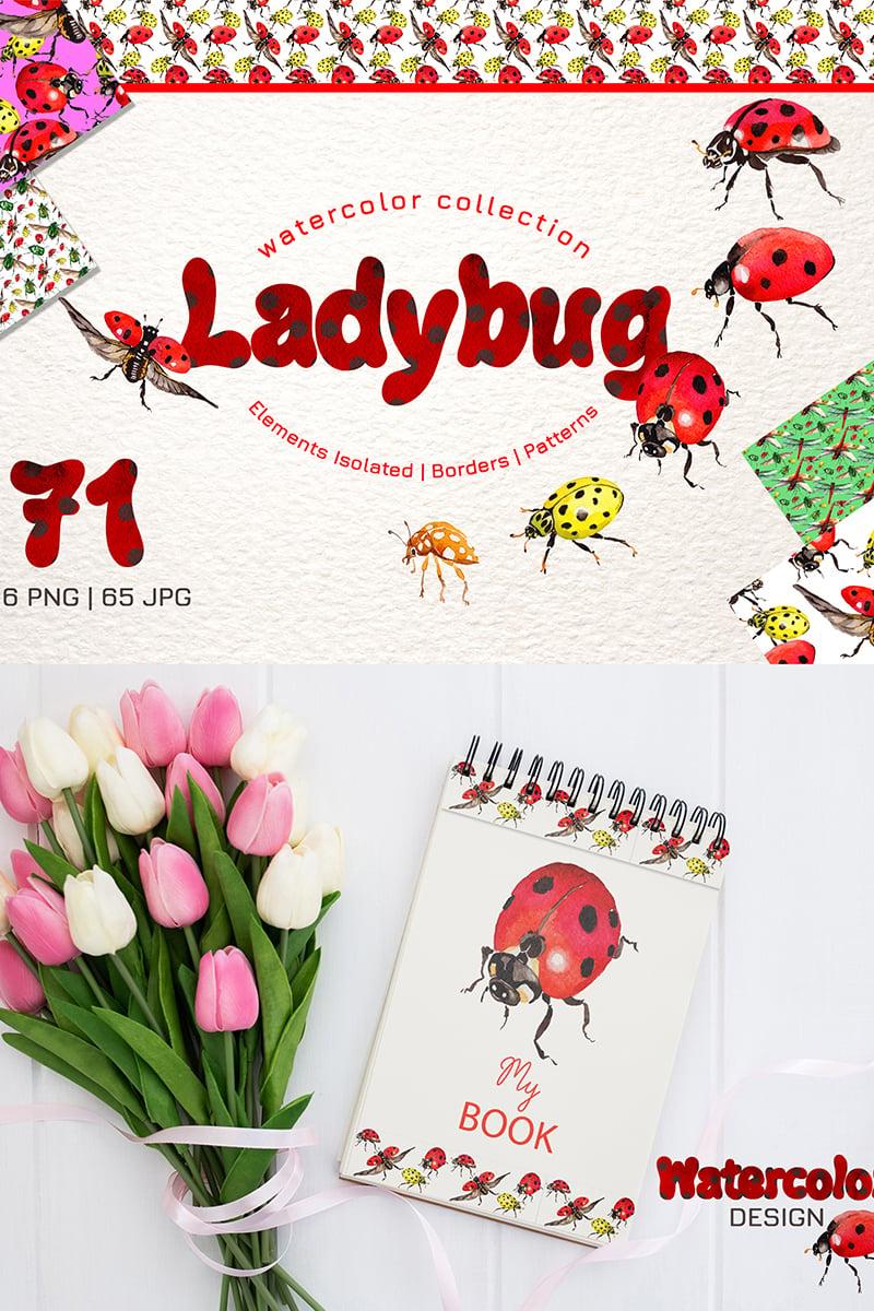 Ladybug Watercolor png Illustration