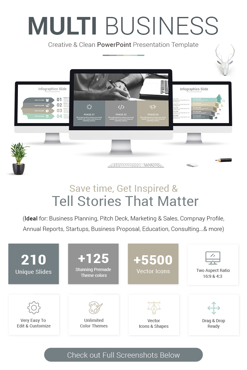 """Luxusní PowerPoint šablona """"SlideSalad - Multi Business"""" #78208"""