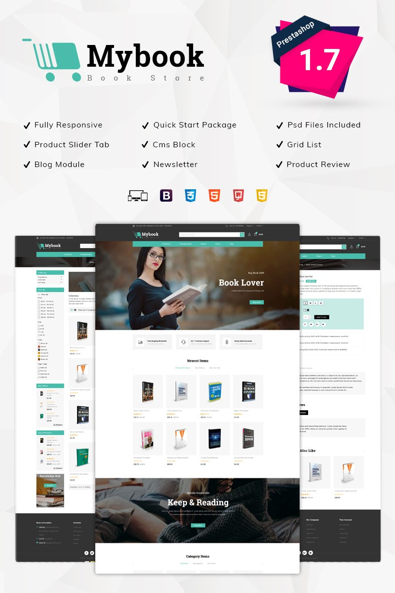 Mybook Book Store Tema PrestaShop №78248 - screenshot