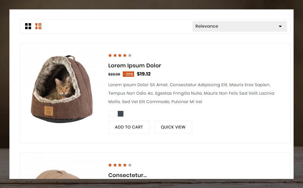 Pretty - Pet store Template №78231