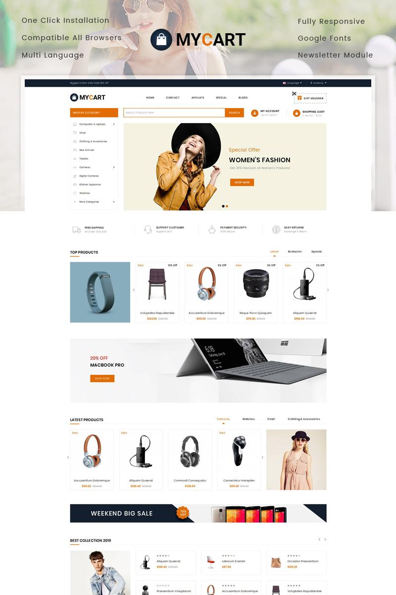 Responsive MyCart - Multipurpose Store Opencart #78275 - Ekran resmi